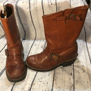 Frye Veronica Slouch Boot 6.5 Brown Leather Pull